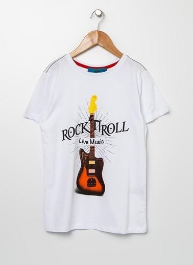 Funky Rocks Tişört Beyaz
